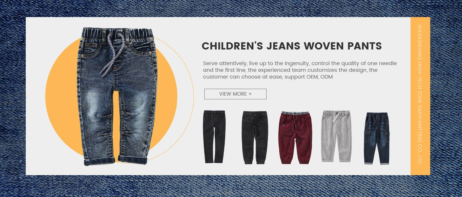 Children\'s Jeans Woven Pants