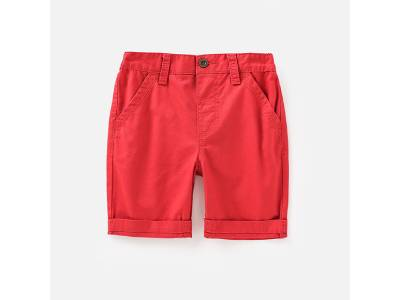 Children Candy Color Woven Shorts