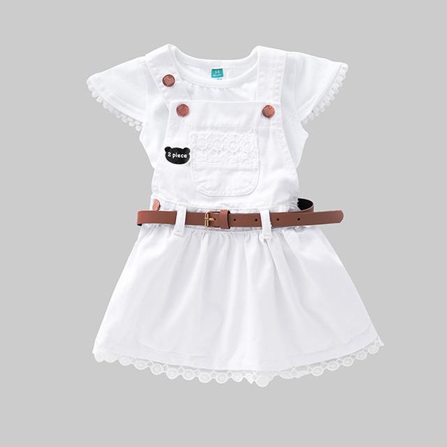Children's T-shirt denim skirt