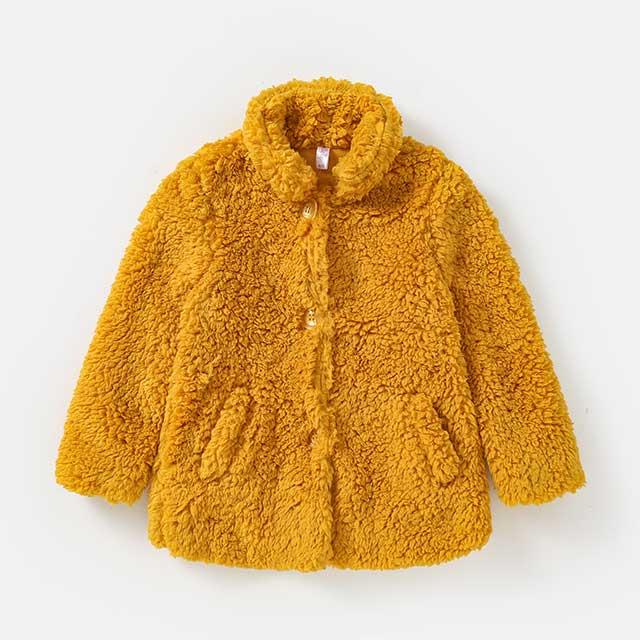 Children's multicolor cashmere coat