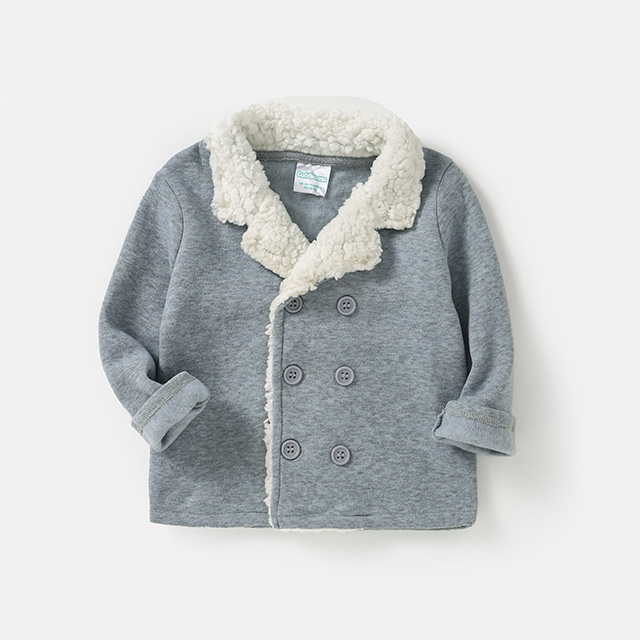 Children's British style cashmere coat