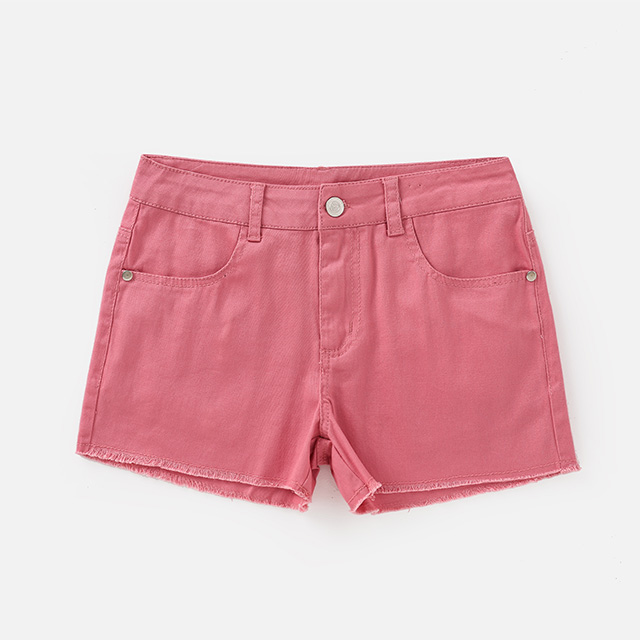 Children's candy color woven shorts