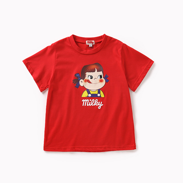 Children's red loose T-shirt
