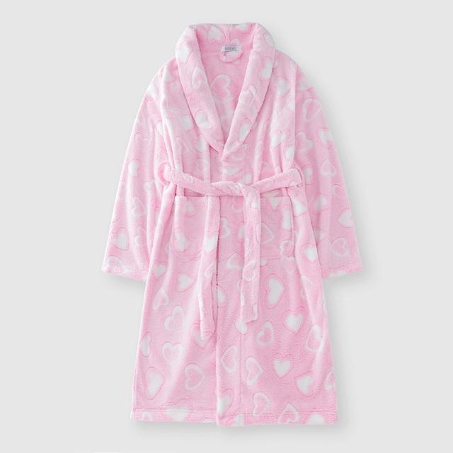 Flannel women's bathrobe