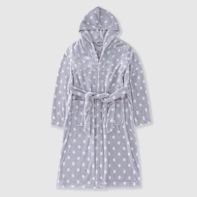 Flannel men's bathrobe