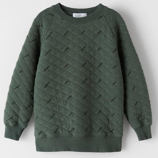 Children's raglan sleeve warm cloth flannel